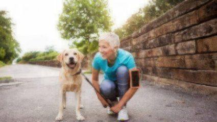 retiree with dog