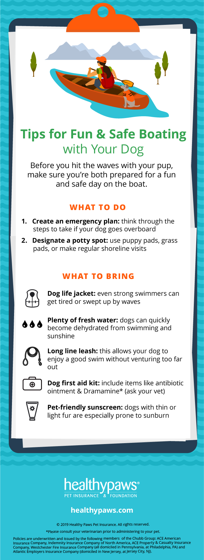 safe boating with pets infographic