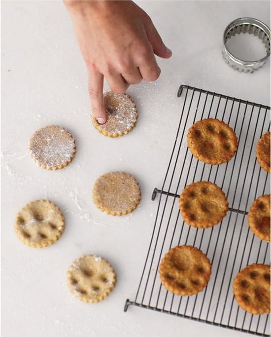 Cookies with paw prints