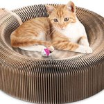 Cat scratcher cat bed