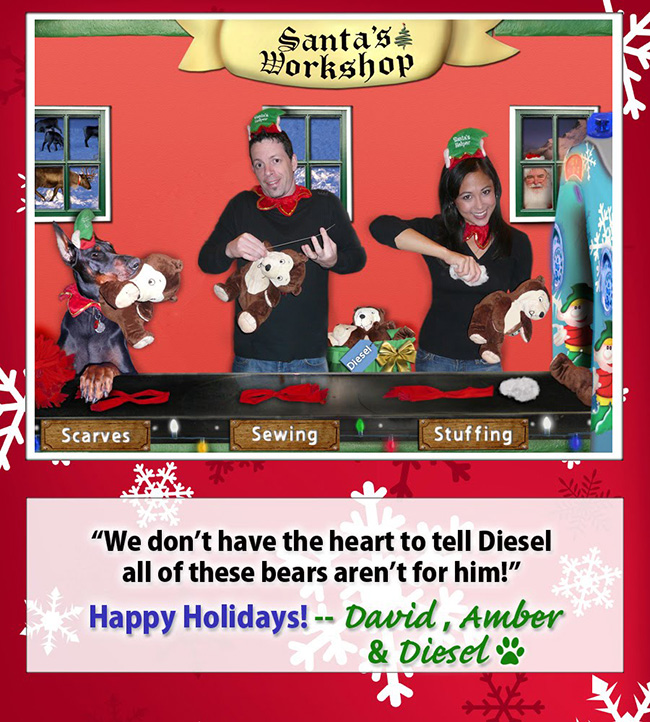 Holiday card from Henrich's