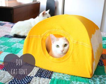 homemade cat tent
