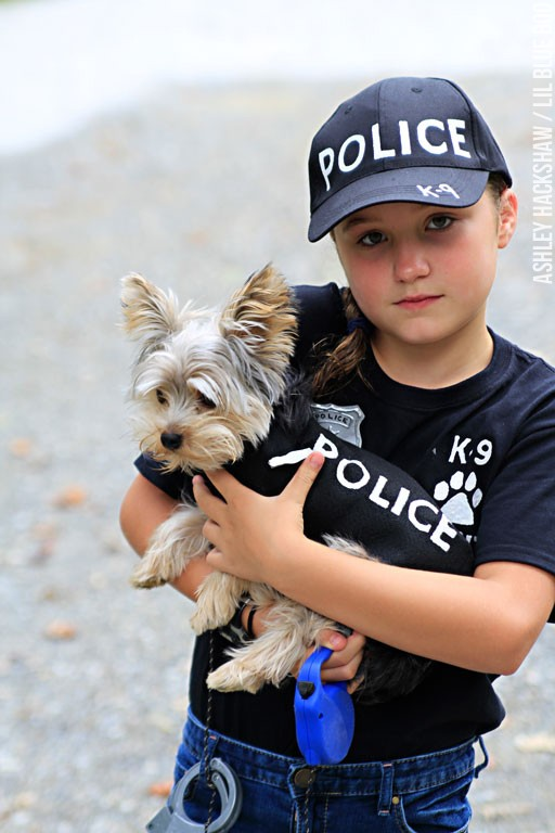 Police K9 Unit Halloween costume for dogs and kids