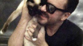 Ricky Gervais Cat Ollie Social