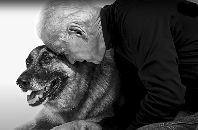 Joe Biden and his dog Major