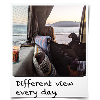 View from a van