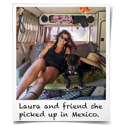 Laura and a dog