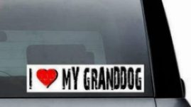 grandparents bumper sticker granddog